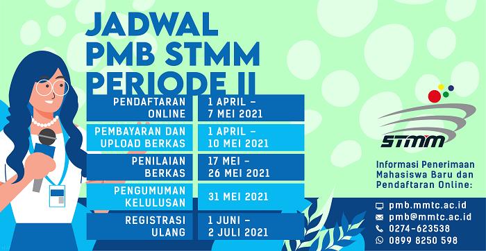 Jadwal PMB STMM 2021/2022 Periode II